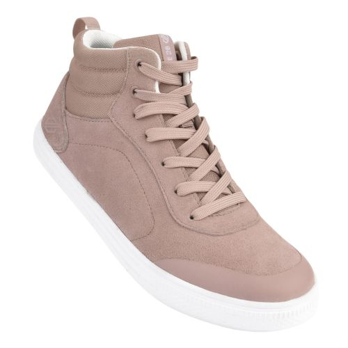 Women's Cylo High Top Suede Trainers - Mink Pink